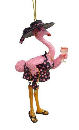 Diamond Accent Tree (December Diamonds Felisha Flamingo Drinking Christmas Ornament 5590350)