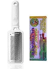 Microplane Foot File Colossal Callus Remover White Color + Mr Pumice Extra Coarse Ultimate Pumi Bar