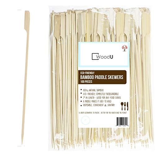 Bamboo Picks Paddle Skewers (Pack of 100), 7