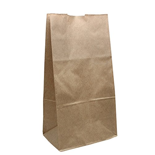 Lollicup Fp Sos06k Karat Paper Bag  Kraft  6 Lb   10 95  Height  3 58  Width  5 98  Length  Pack Of 2000