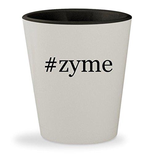 Price comparison product image zyme - Hashtag White Outer & Black Inner Ceramic 1.5oz Shot Glass