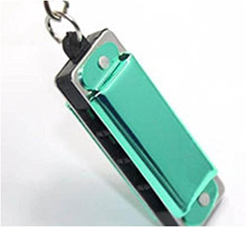 Color Random Mini Harmonica Keychain Mouth Organ Keyring Pendent Rad Silver Tone (Bracelet Brighton York New)