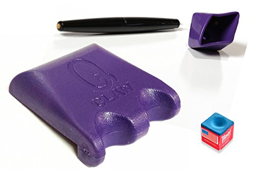 Q Claw Purple 2 Pool Cue Holder with Pocket Chalker