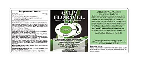 AMP Floracel Capsules, Aloe Vera Capsules, Organic Aloe Supplement for Digestive or Auto-Immune Diseases or Disorders by Capsules