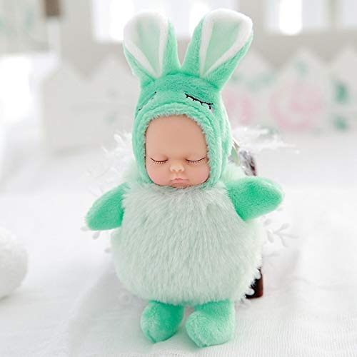 GOONEE Baby Doll - Small Baby Dolls Plush Doll Reborn Toys Present for Girls Gift Stuffed Kids Baby Toy - Mint Greenbodyrabbit - Nightgown Nursery Bitty St Women Newborn Disney Boy Dress