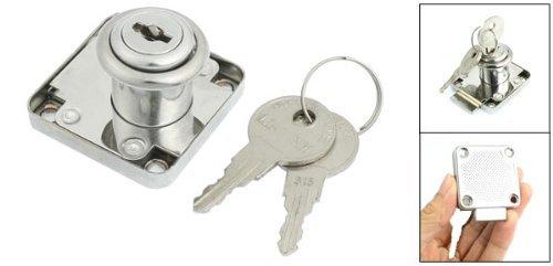 eDealMax plata barrio tono Girar cajón con llave cilindro de la cerradura w Teclas - - Amazon.com