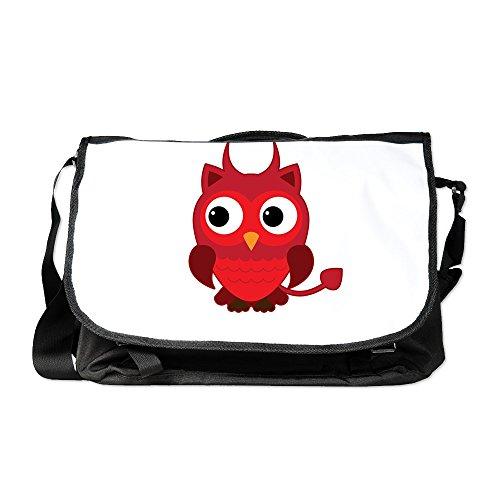 Truly Teague Laptop Notebook Messenger Bag Little Spooky Owl Devil -