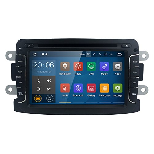 Android 7.1 Quad Core System 7 inch Car DVD Player for Renault Dokker Dacia...