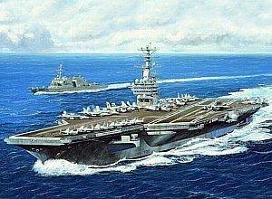 Trumpeter 1/700 USS Nimitz CVN68 Aircraft Carrier 2005 Model Kit by Trumpeter