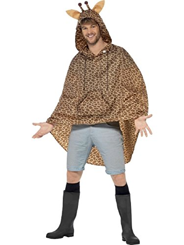 Funny Tiger Woods Costume (OvedcRay Adult Mens Ladies Waterproof Festival Animal Print Party Poncho Funny Raincoat)