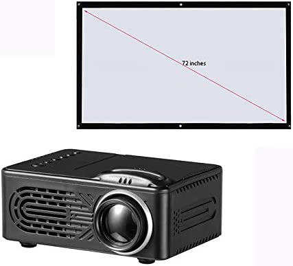 Link Co Proyectores portátiles Proyección de Video en la Sala de Estar Soporte 1080p Compatible con USB,SD vga para Cine casa Pantalla de Regalo 72 Pulgadas: Amazon.es: Hogar