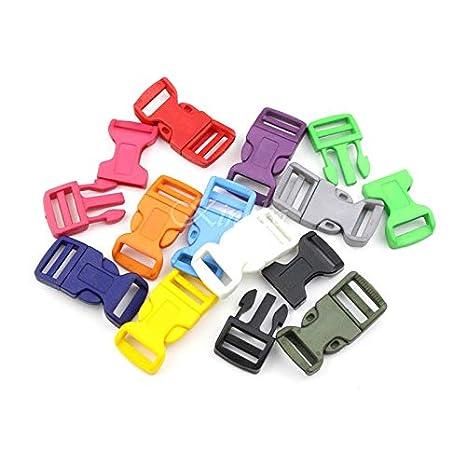 Laliva hebillas - 10 piezas 3/4 pulgadas color plástico ...