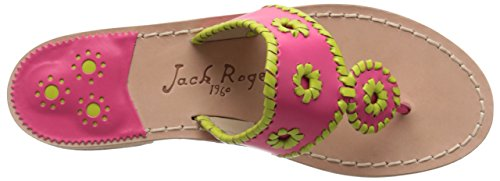 Jack Rogers de la mujer Lexi vestido sandalia Pink-Lime