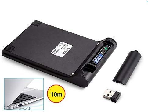 Triamisu Clavier sans Fil Simple Multifonctionnel Table d'ordinateur PC Portable Clavier Portable Touchpad - Noir