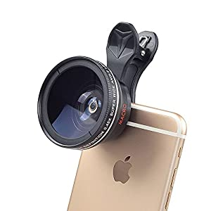 Optical Zoom Telescope Lens Clip On Cell Phone Camera Lens for iPhone 6/7/6s Plus/SE, Samsung S7/S6/Edge, LG, Moto, HTC, Sony and more