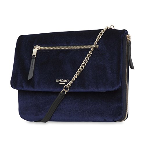 KNOMO London ELEKTRONISTA Velvet Clutch 10'- Midnight
