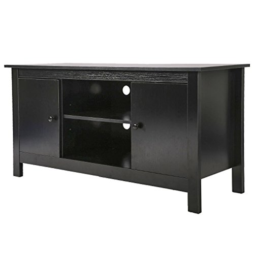 Wood Media Storage Console Entertainment Center For 50