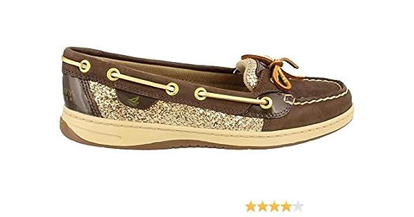 Amazon Com Sperry Angelfish 9102 Brown Gold Glitter Womens