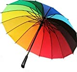 umbrella JUMBO AUTOMATIC 42 IN (open) good quality for long lasting new collection rainy season low price attractive rainbow colour