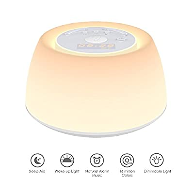 Sunrise Alarm Clock, Thpoplete Digital Clock, Wake Up Light with 256 Colors, Sleep Aid Night Light with Snooze Function, Dimmable Bedside Lamp for Bedroom, Living Room, Baby