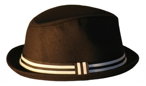 Born To Love Baby Boy's Fedora With Band-Black And White-S(12-24 months) by Born to Love
