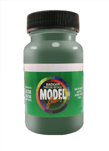 Badger Air-Brush Co. 26-105 2-Ounce Modelflex Military Airbrush Ready Water Based Acrylic Paint, Medium Green