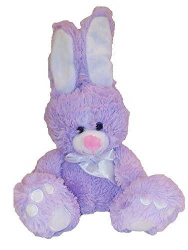 Animal Adventure Plush Toy Sitting Bunny W Bow Lilac