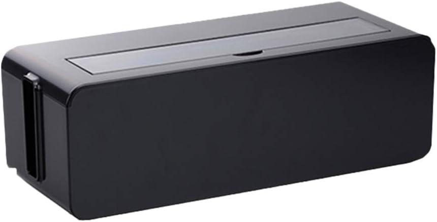 Tama/ño M Blanco TOPBATHY Caja de Almacenamiento de Gesti/ón de Cables de Pl/ástico Organizador de Cable Tira de Alimentaci/ón Caja Oculta Suministros para El Hogar con Cubierta para Uso Dom/éstico