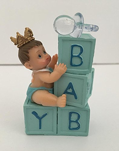 - Baby Prince on Baby Blocks Baby Shower Favor Cake Decoration