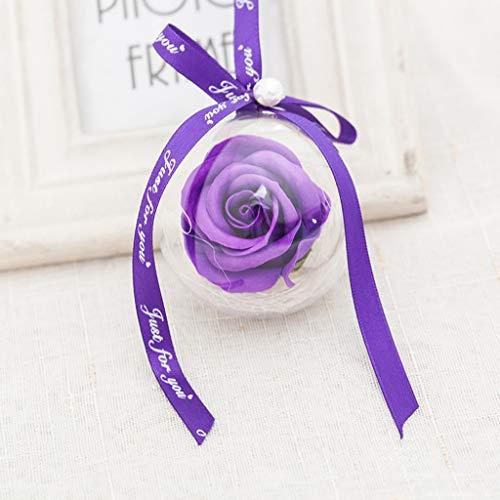 NszzJixo9 Rose Plastic Ball Pendant Soap Flower Decoration Wedding Decoration Perfect Home Decoration Rose Decoration -