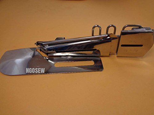 NGOSEW CoverStitch Machine Binder, Semi-Fold Binding Attachment For Flatbed Machines # 1-1/8″ – 3/8″
