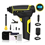 Portable Air Compressor, 120W Cordless Handheld Air Pump 150PSI Tire Inflator, Digital Pressure Guage, LCD Display Rechargeable Battery for Car Motorcycle Bike Tires Mattress Pool Floats etc