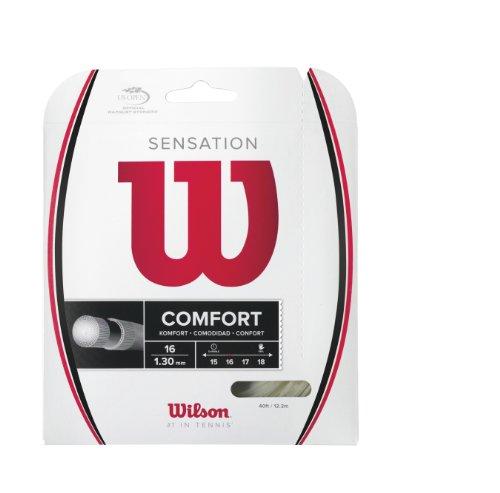 Wilson Tennissaiten Sensation Comfort Plus Feel 1.3 mm, Natural, 200 m, WRZ941000