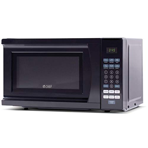 Commercial Chef CHM770B Countertop Microwave, 0.7 Cu. Ft, Black (Emerson 1-1 Cu Ft 1000w Microwave Oven)