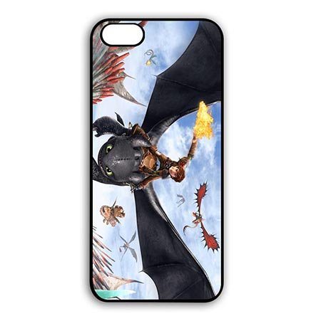 [How to Train Your Dragon Treasure Black Snap On Cases for iPhone 6 PLUS - iPhone 6S PLUS(5.5 Inch] (Peter Pan Cast Costumes)