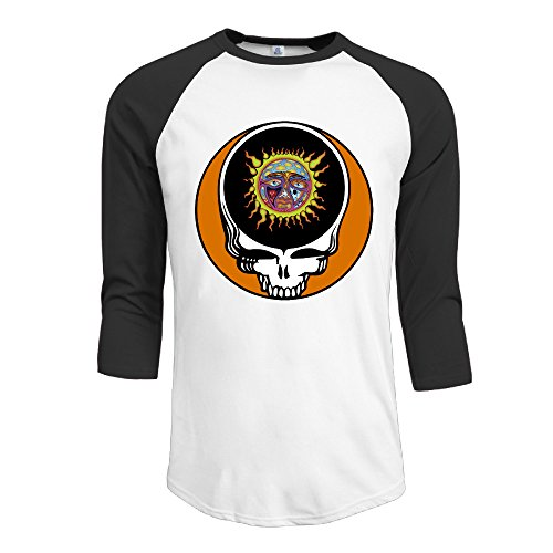 Steal Your Face Sublime Ska Punk Band Men's 3/4 Sleeve Athletic Baseball Jersey