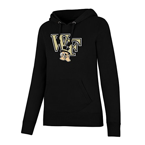 (NCAA Wake Forest Demon Deacons Women's Ots Fleece Hoodie, Large, Jet Black)