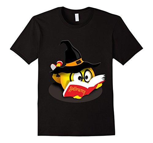 Mens Halloween Nerdy Reading Emoji Funny Cute Book Lover Gift Tee 2XL (Nerdy Halloween Ideas)