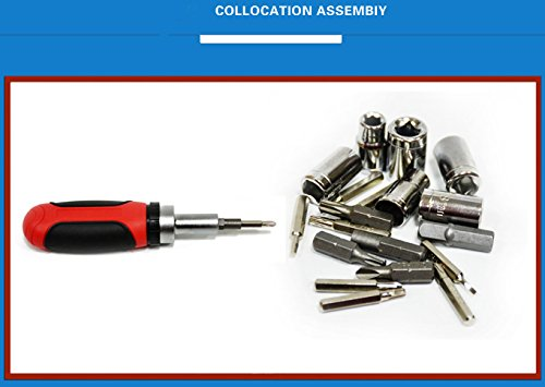Screwdriver Tool Set,Bolt Screwdriver, Can Replace The Different Specifications of The Screwdriver Tool (Red30Head ScrewDriver)