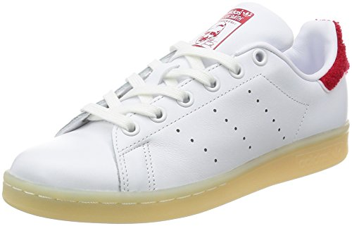 adidas Stan Smith W, Baskets Femme Blanc Cassé (Ftwwht/Ftwwht/Colred)
