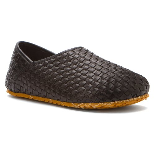 OTZ Shoes Mens OTZ-300GMS Woven Leather Loafers Shoes Black pdh3CHfV