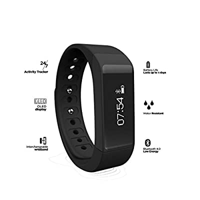 OUMAX T3FIT T3 (3 Colored Bands) Activity and Fitness Tracker With 0.91inch OLED Touch Screen, G Sensor, Sleep Monitor and Smart Notifications for IOS & Android Devices (Support IOS9.0)