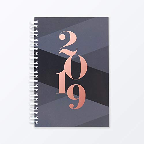 2019 Monthly Weekly Planner Calendar Appointment Book, 5.5 x 8 inches, Premium Paper, Chic Fashionable Elegant (AJWP-202)