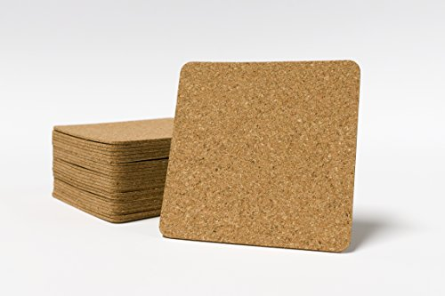 25 pack of 3.75 x 3.75 Self Adhesive Cork Squares