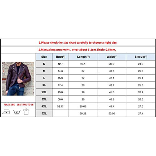 Jacket Fashion Fit Outwear Biker Wine Coats Men Leather Men's with Jackets Pockets Casual Winter Red Sleeve Purple Autumn Tops Zipper B Black Slim Long Purple qTXpE