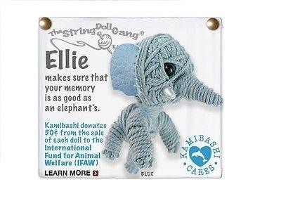 Kamibashi Ellie the Elephant Original String Doll Gang Keychain (String Doll Gang)