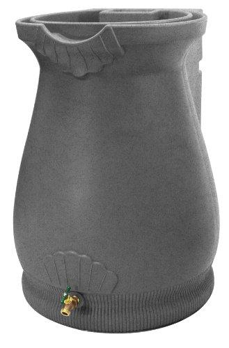 Barrel Roof - Good Ideas Rwurn-Lig Rain Wizard Rain Barrel Urn 65 Gallon, Light Granite