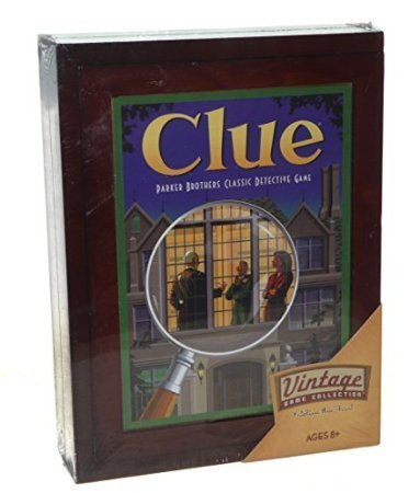 Parker Brothers Vintage Game Collection Exclusive Wooden Book Box Clue - Exclusive Wooden Box
