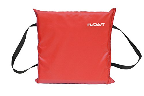 Flowt 40102 Type IV Throwable Floatation Foam Cushion, USCG Approved, Red