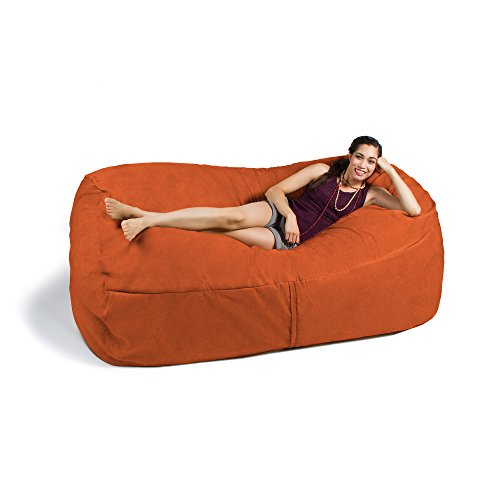 Mandarin Foam (Jaxx 7 ft Giant Bean Bag Sofa, Mandarin)